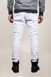 Brooklyn Cloth White Space Dye Moto Twill Jogger Pants