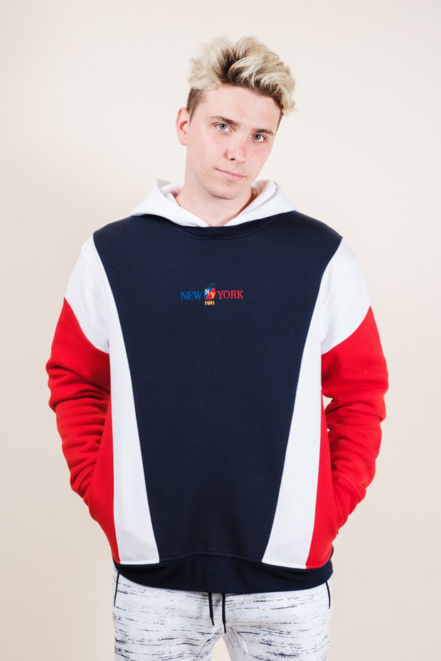 New York Retro Color Blocked Hoodie