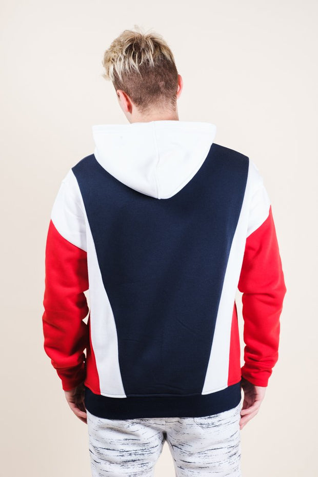 Men's New York Retro Color Blocked Hoodie