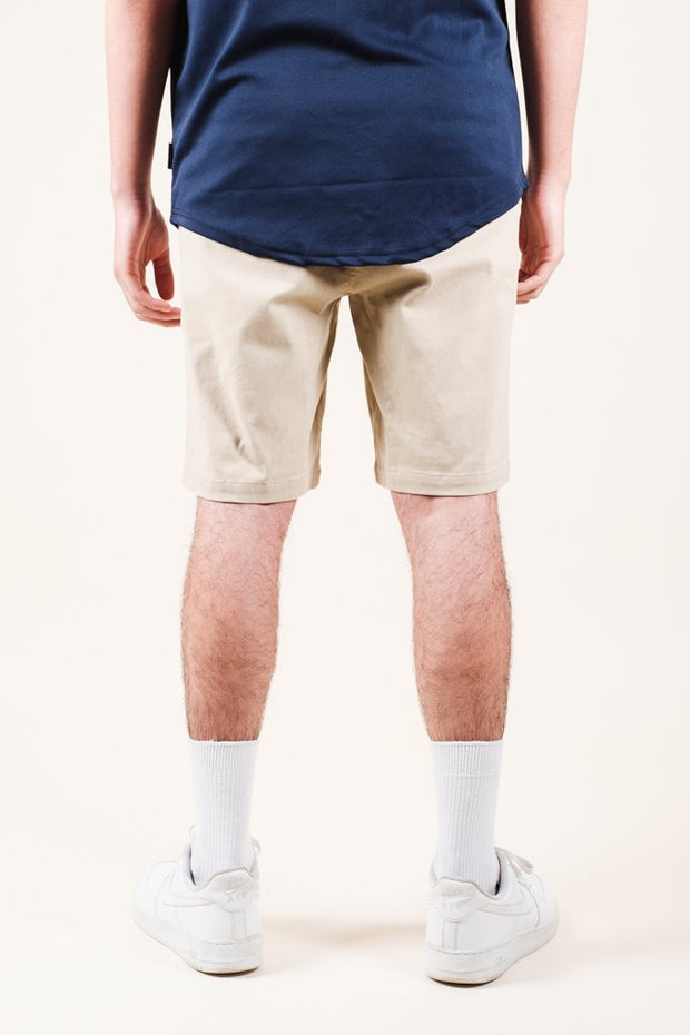 Brooklyn Cloth Khaki Twill Jogger Shorts