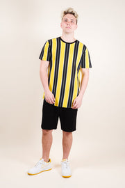 Brooklyn Cloth Gold Printed Vertical Stripe Tee for Men