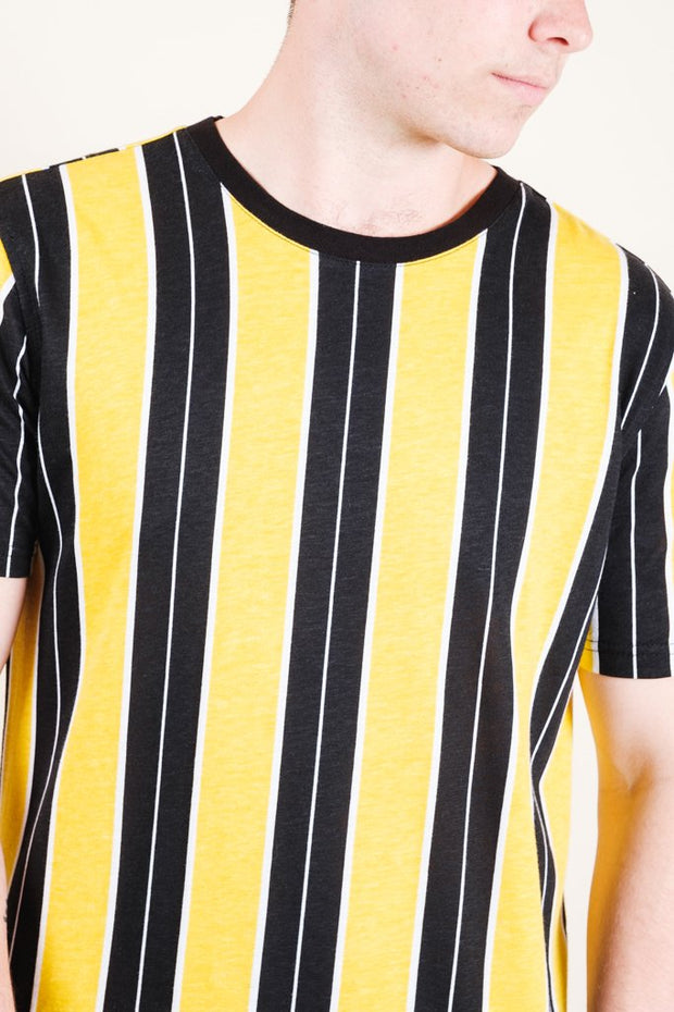 Gold Printed Vertical Stripe Tee