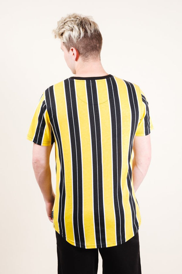 Brooklyn Cloth Gold Printed Vertical Stripe Tee