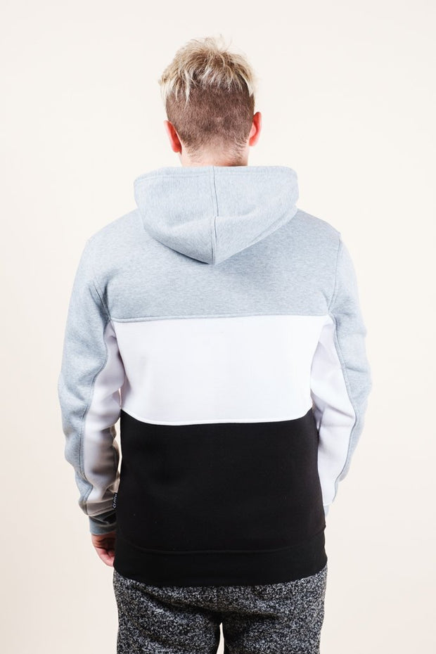 Brooklyn Cloth Grey Color Blocked Hoodie