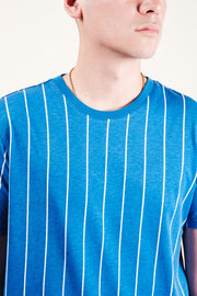 Blue Vertical Stripe Tee