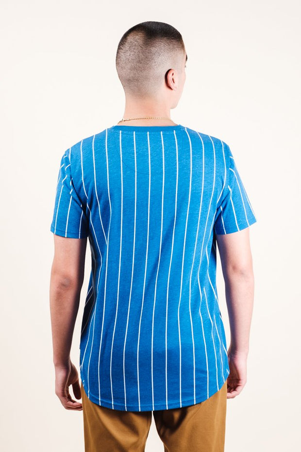 Brooklyn Cloth Blue Vertical Stripe Tee