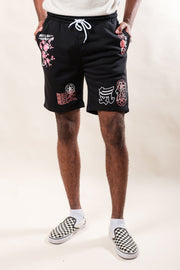 Black I Don't Care Sakura Shorts