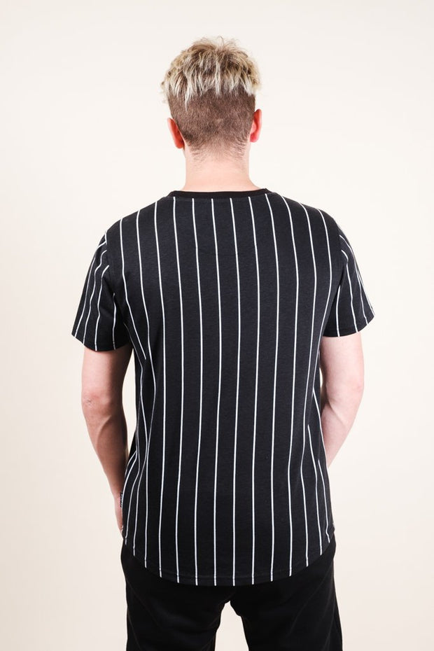 Brooklyn Cloth Black Vertical Stripe Tee