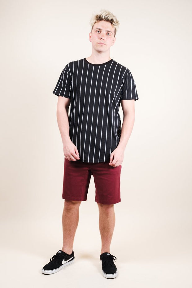 Brooklyn Cloth Burgundy Twill Jogger Shorts for Men