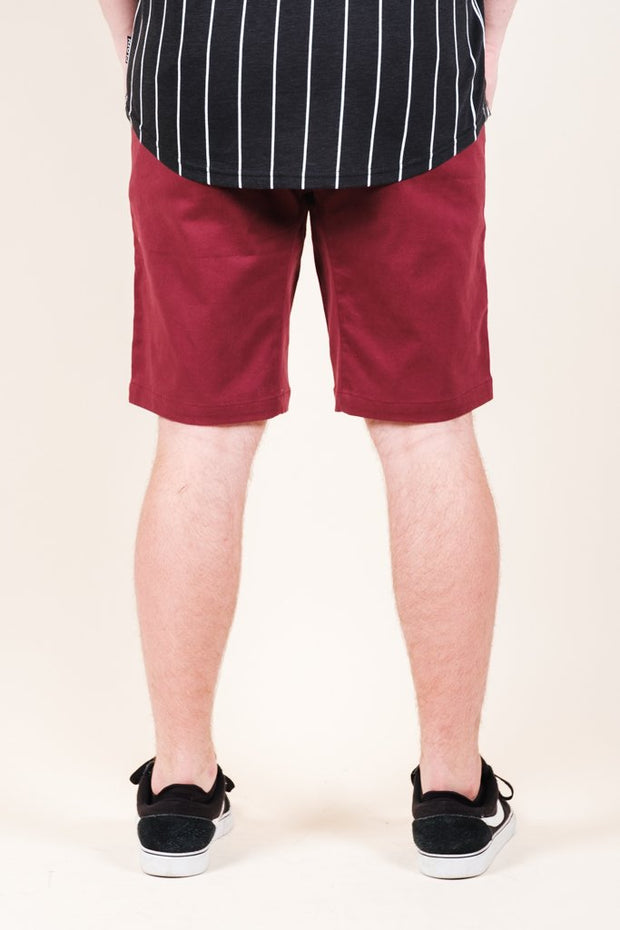 Brooklyn Cloth Burgundy Twill Jogger Shorts