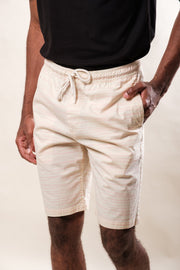 Pink Thin Stripe Poplin Shorts