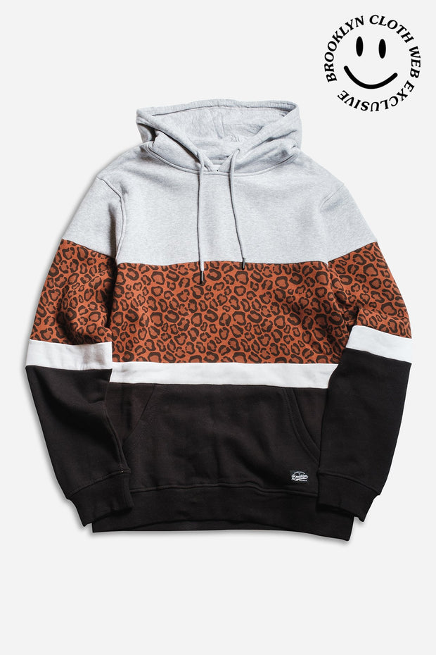 Leopard Color Blocked Hoodie
