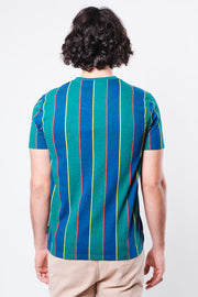 Brooklyn New York Print Stripe Tee