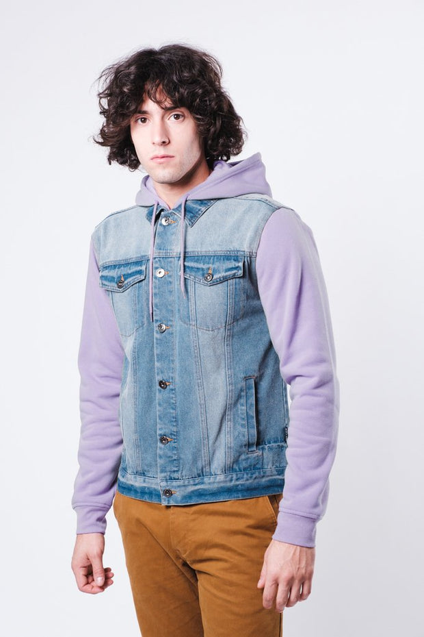 Lavender Medium Wash Denim Jacket