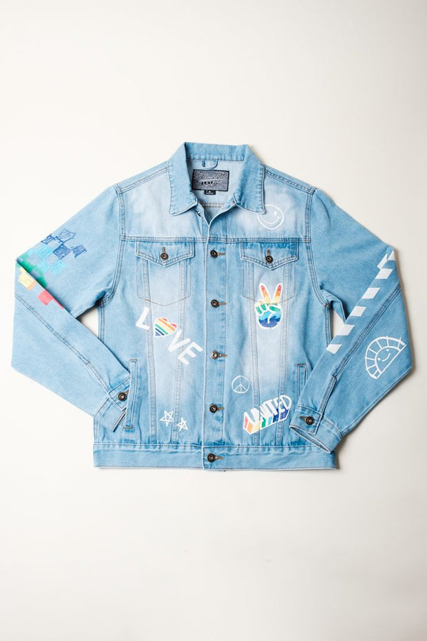 Love is Love Denim Jacket