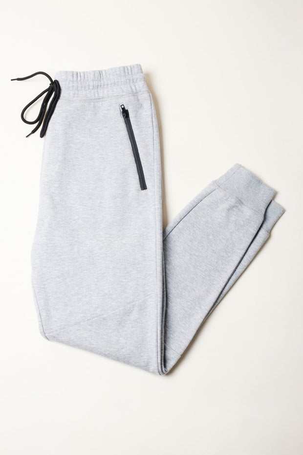 Heather Grey French Terry Jogger Pants