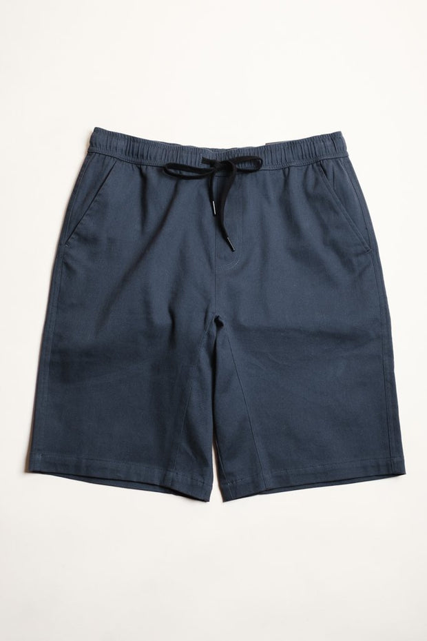 Navy Twill Jogger Shorts at Brooklyn Cloth