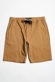 Camel Twill Jogger Shorts at Brooklyn Cloth