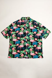 Flamingo Print Woven Shirt at Brooklyn Cloth