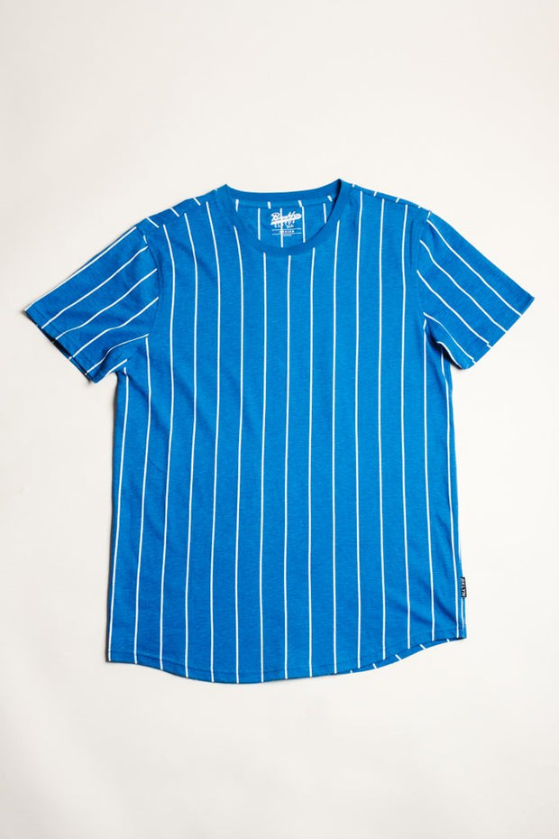 Blue Vertical Striped Tee for Men