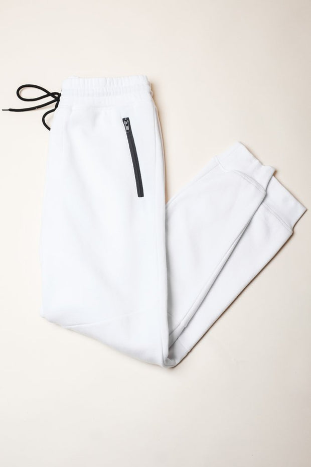 White French Terry Jogger Pants