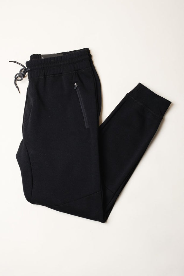 Black French Terry Jogger Pants from Brooklyn Cloth