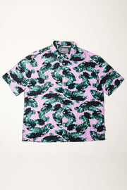 Palm Tree Leaves Rayon Shirts
