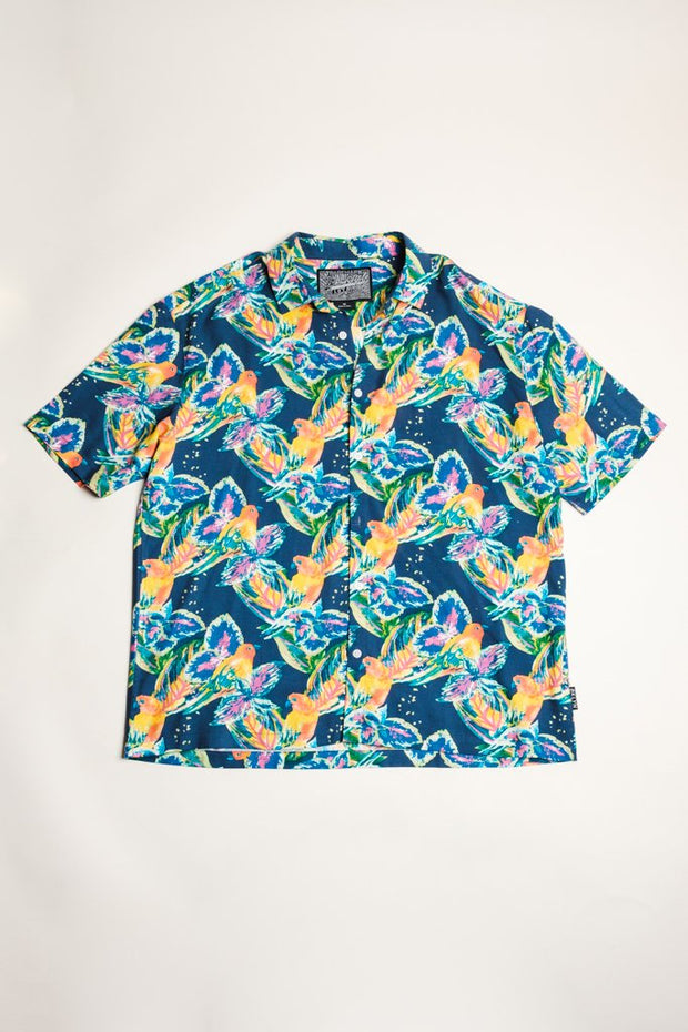 Parrot Print Woven Shirt for Men