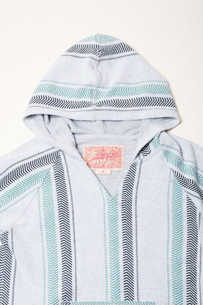 Boys Black and Teal Baja Hoodie