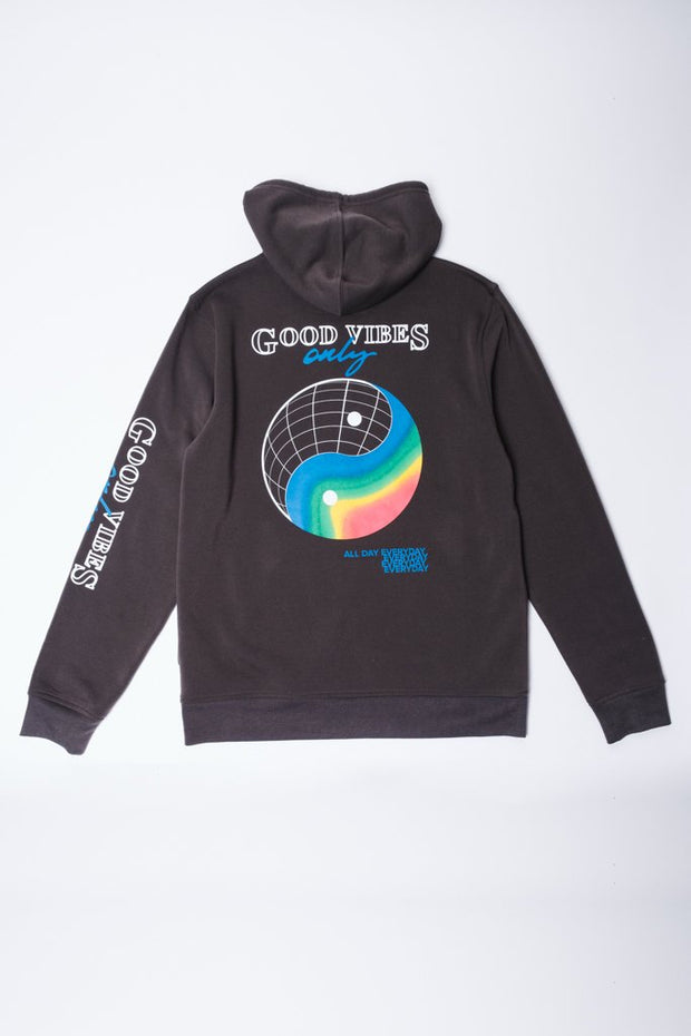 Dusty Black Good Vibes Only Hoodie