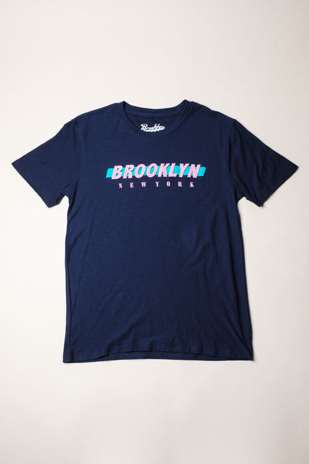 Navy Brooklyn Printed Tee for Men
