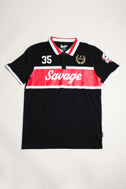 Savage Button Polo Shirt