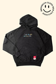 Snatra Black cotton hoodie for men