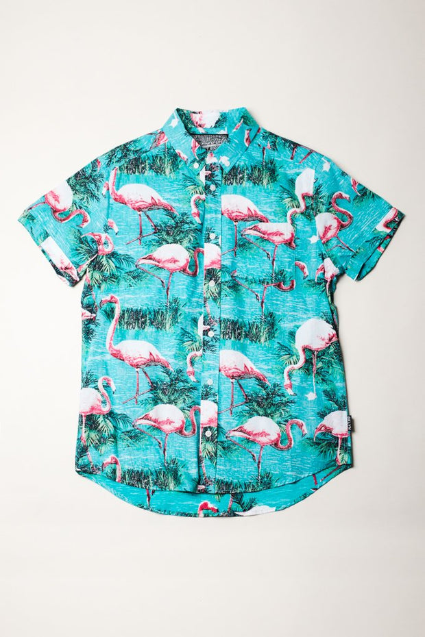 Mens Flamingo Woven Shirt by Brooklyn Cloth