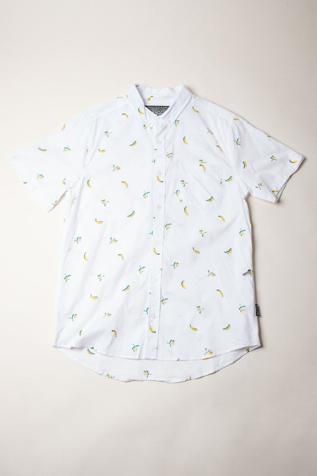 White Banana Woven Shirt for Men