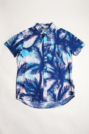large Palm Tree print Woven Shirt