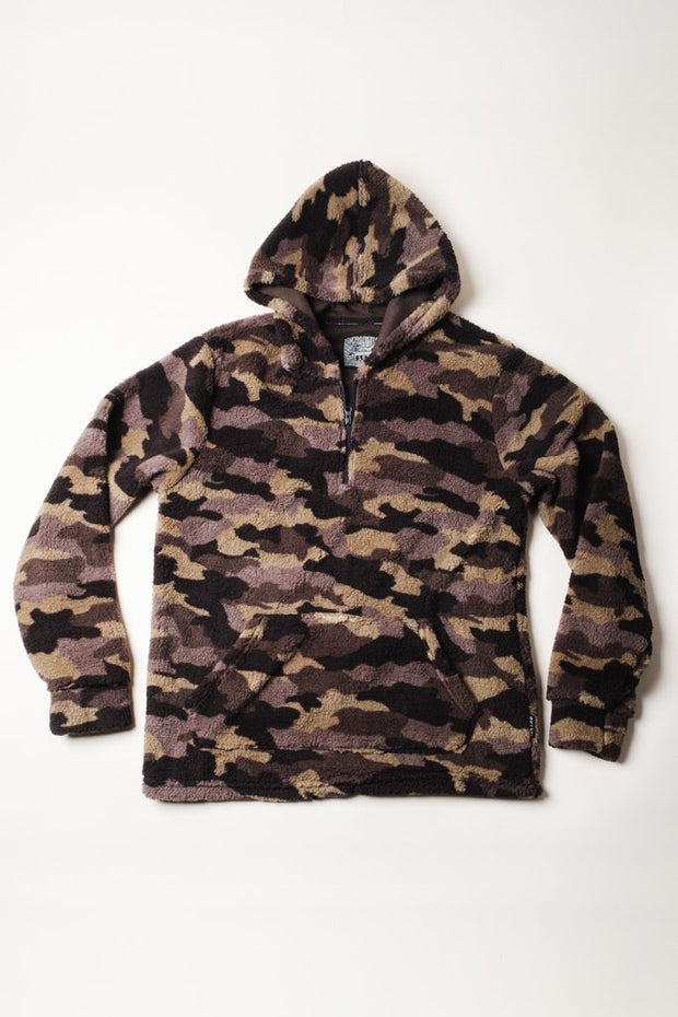 Warm Sherpa Hoodie in Camo for Men