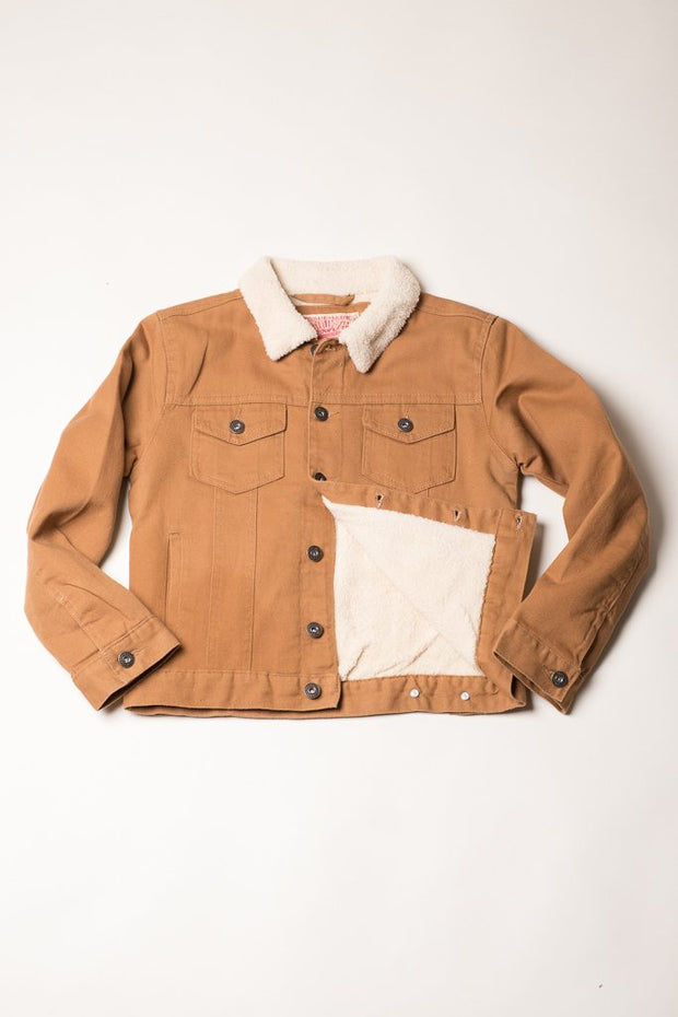 Boys Tobacco Trucker Jacket from Brooklyn Cloth