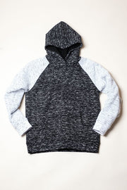 Black Sherpa fuzzy Hoodie for Men