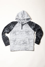 Black Marl Streaky Coy Knit Hoodie for Men