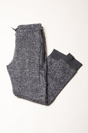 Heat Sealed Black Marl Jogger pants