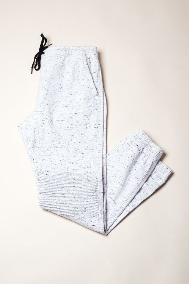 White Space Dye Jogger Pants for men