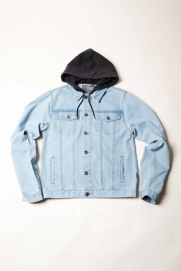 Hooded Trucker Jacket for Men