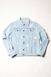 Brooklyn Distressed Denim Trucker Jacket