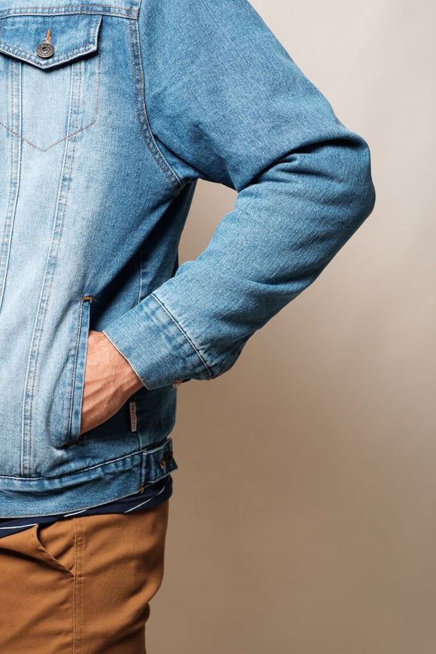 Men's Sherpa Denim Jacket at Brooklyn Cloth
