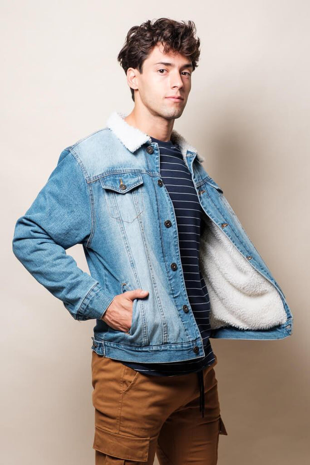 Sherpa Collar Denim Jacket