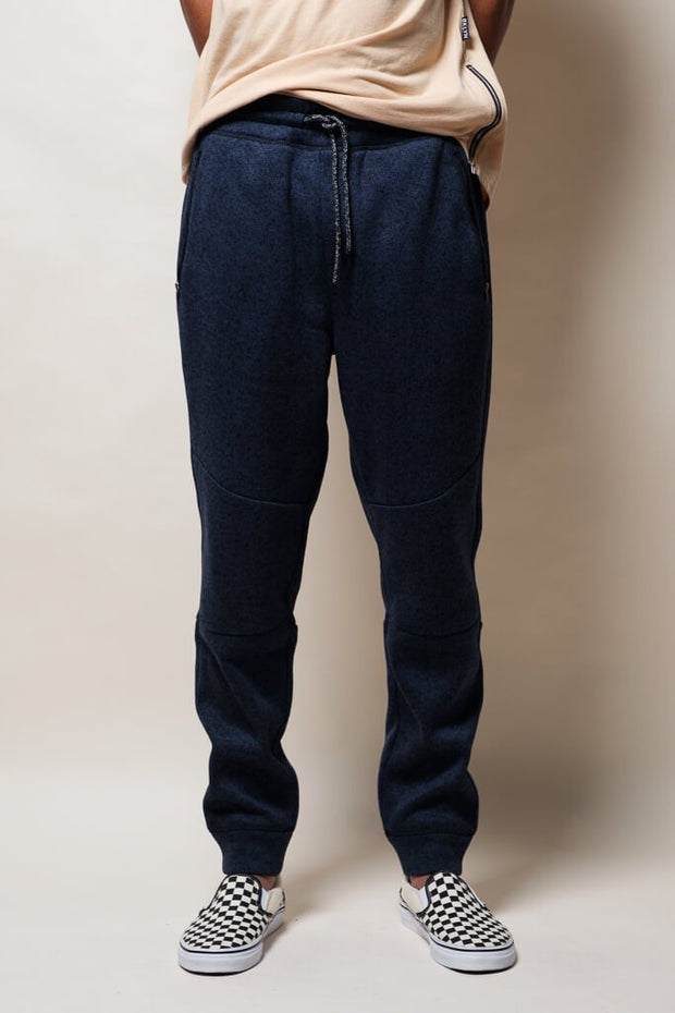 Ocean Marl Cozy Knit Jogger Pants for Men