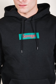 Black Savage Checkered Hoodie for Men