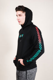 Men's Black Savage Checkered Hoodie