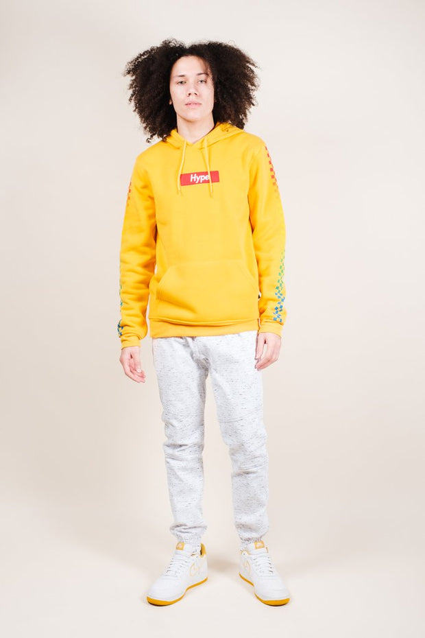 Brooklyn Cloth Yellow Hype Checkered Hoodie